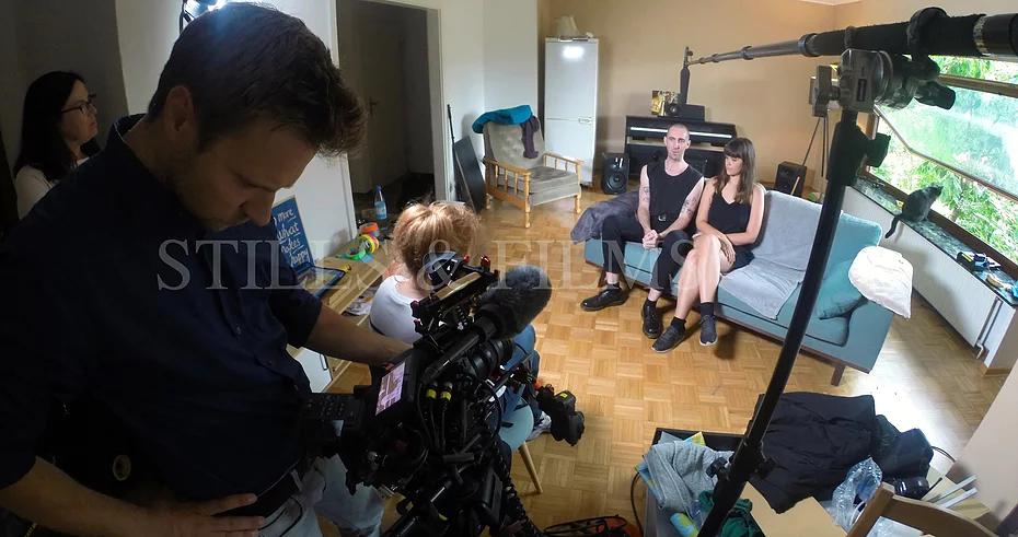 Documentary filming in Berlin, Germany