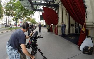 Filming at Grand Hotel Vienna 3