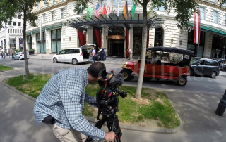 Filming at Grand Hotel Vienna 4