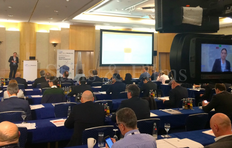 Filming in Frankfurt at the PCI Wood Mackenzie European Nylon Symposium