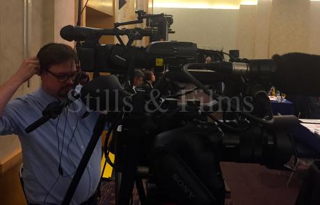Filming in Frankfurt for PCI Wood Mackenzie