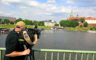 Filming in Krakow 2