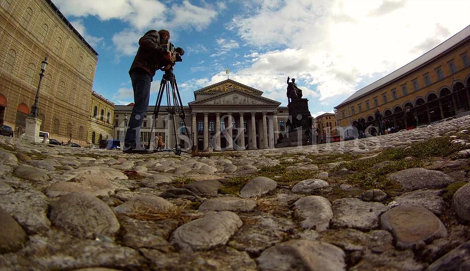 Filming in Munich, Germany.