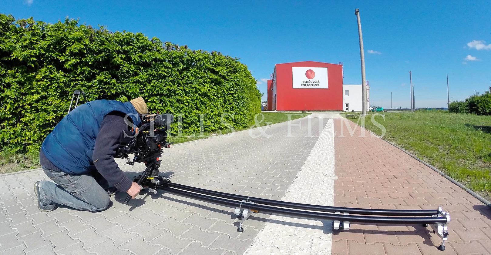 Filming in Trebisov, Slovakia