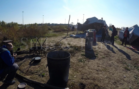 Filming refugees and migrants near the Hungarian border
