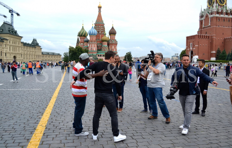 Filming with Gary Neville in Moscow during the World Cup 2018 4