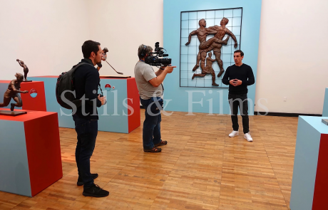 Filming with Gary Neville in the Tretyakov Gallery in Moscow, Russia 2