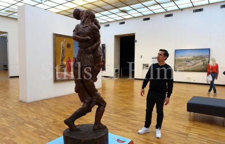 Filming with Gary Neville in the Tretyakov Gallery in Moscow, Russia 4