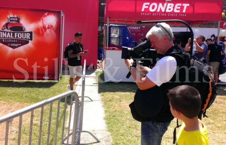 Final4 Belgrade - Nikola filming in fan zone