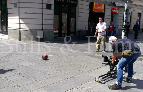 Final4 Belgrade - filming street scene