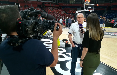 Final4 Belgrade - interviewing Fener coach Zeljko Obradovic