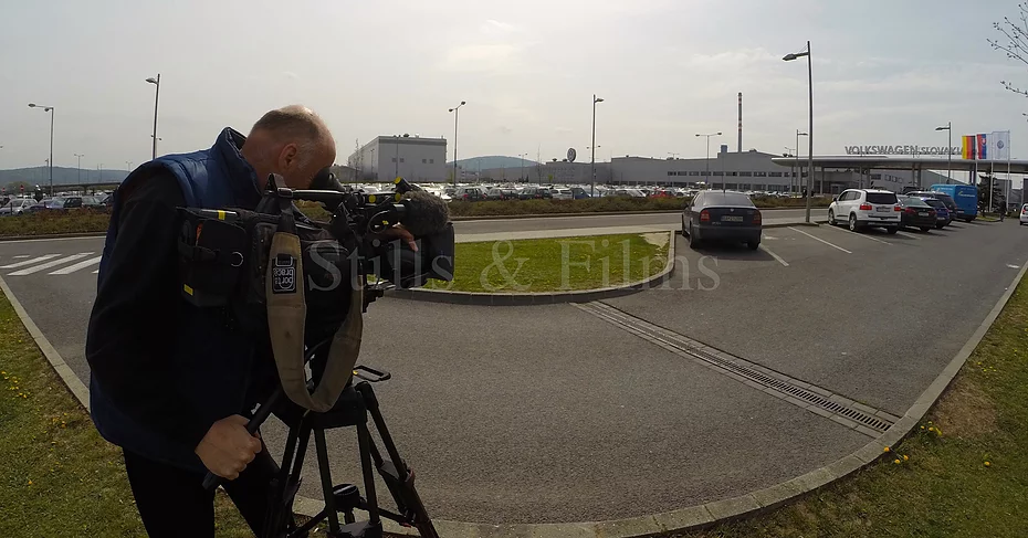 Filming at Volkswagen Bratislava