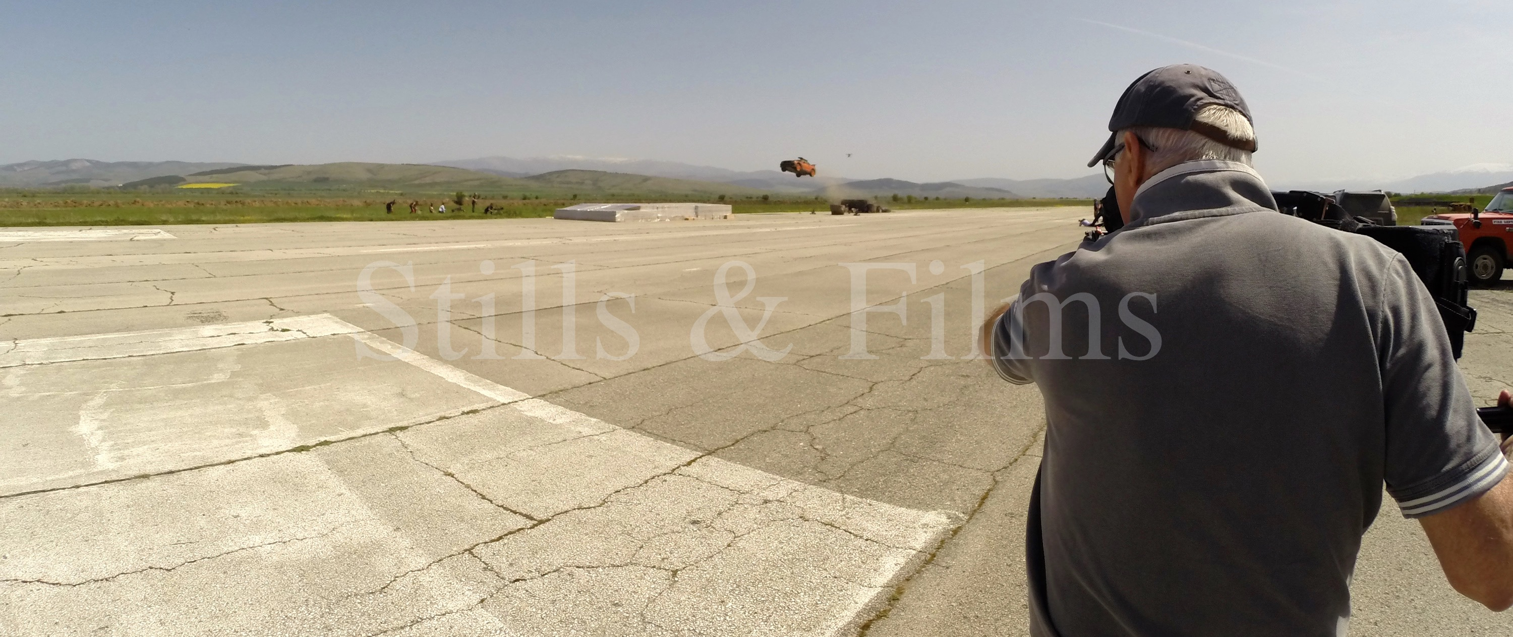 Video Crew Sofia filming action movie stunt at Death Race 4 in Bulgaria