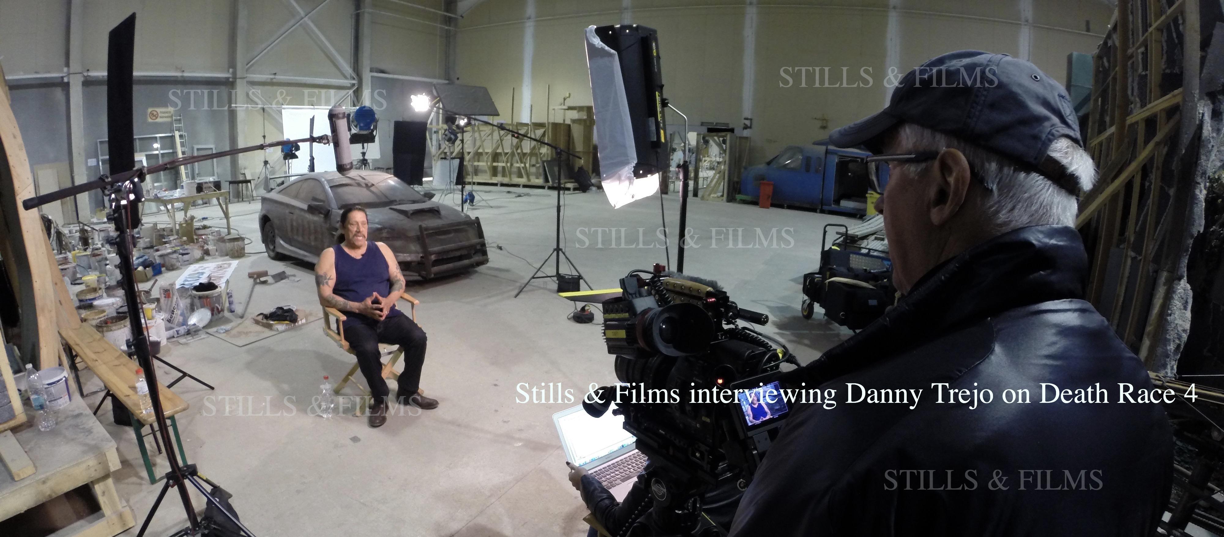 Video Crew Sofia interviewing Danny Trejo