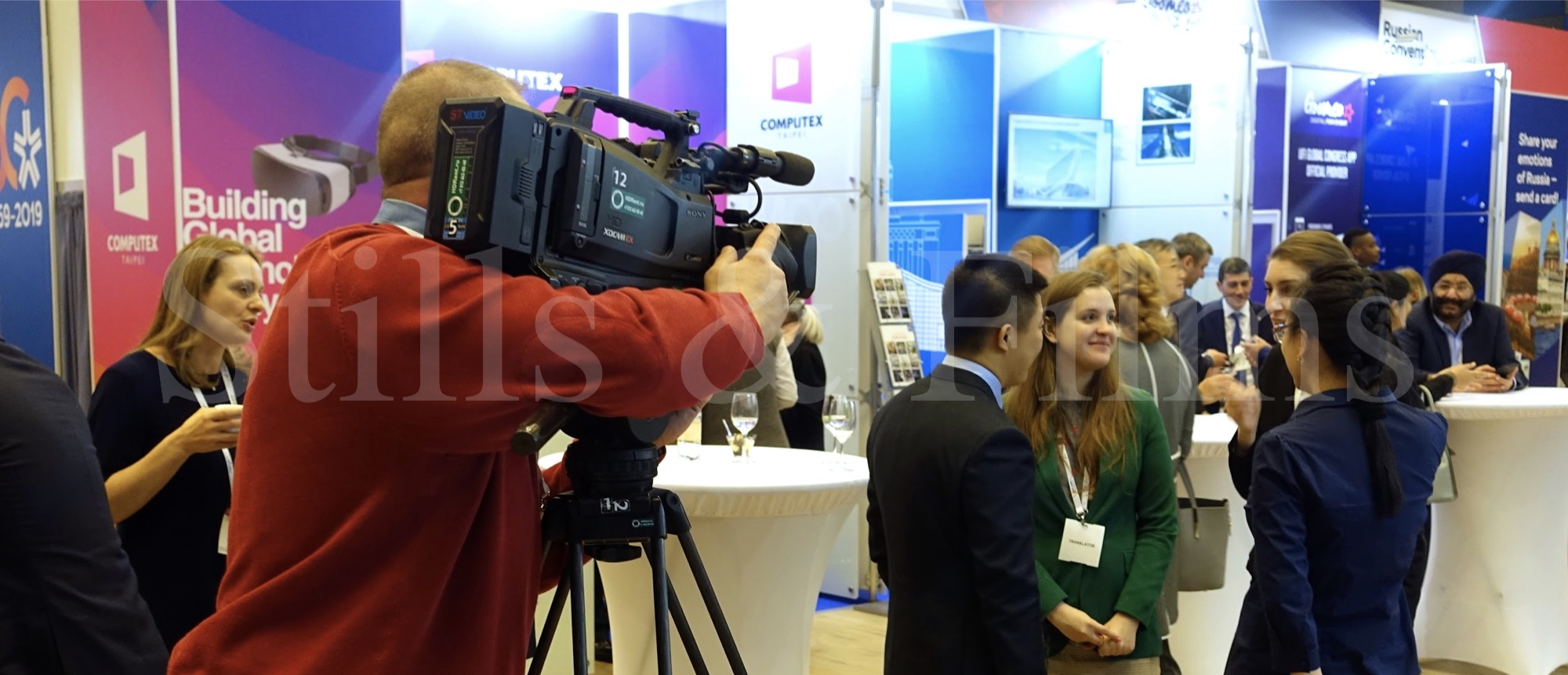 Video Crew St.Petersburg filming at the UFI conference