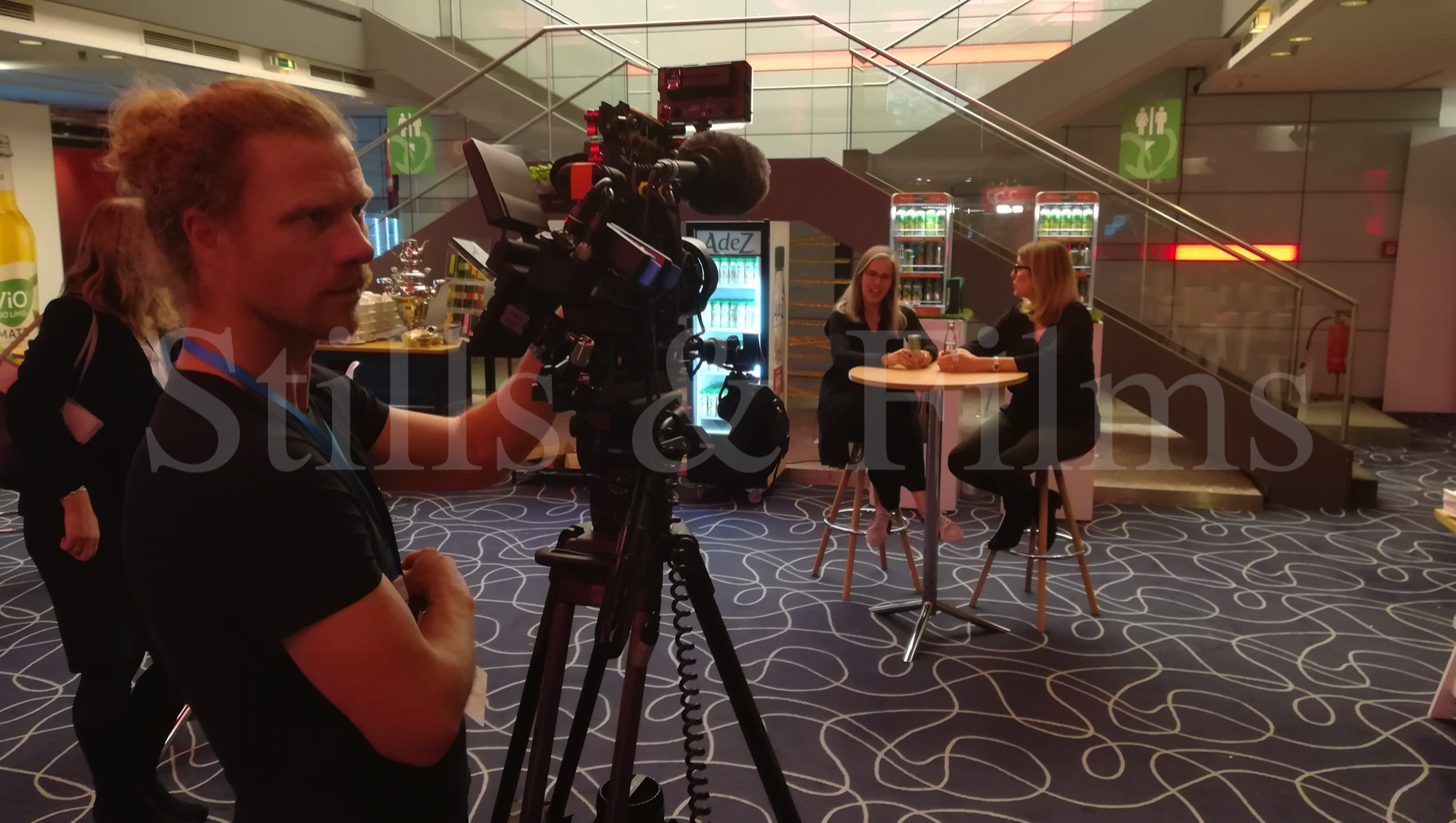 Filming members of the Coca Cola team at the All Hands Meeting 4 in Munich, Germany