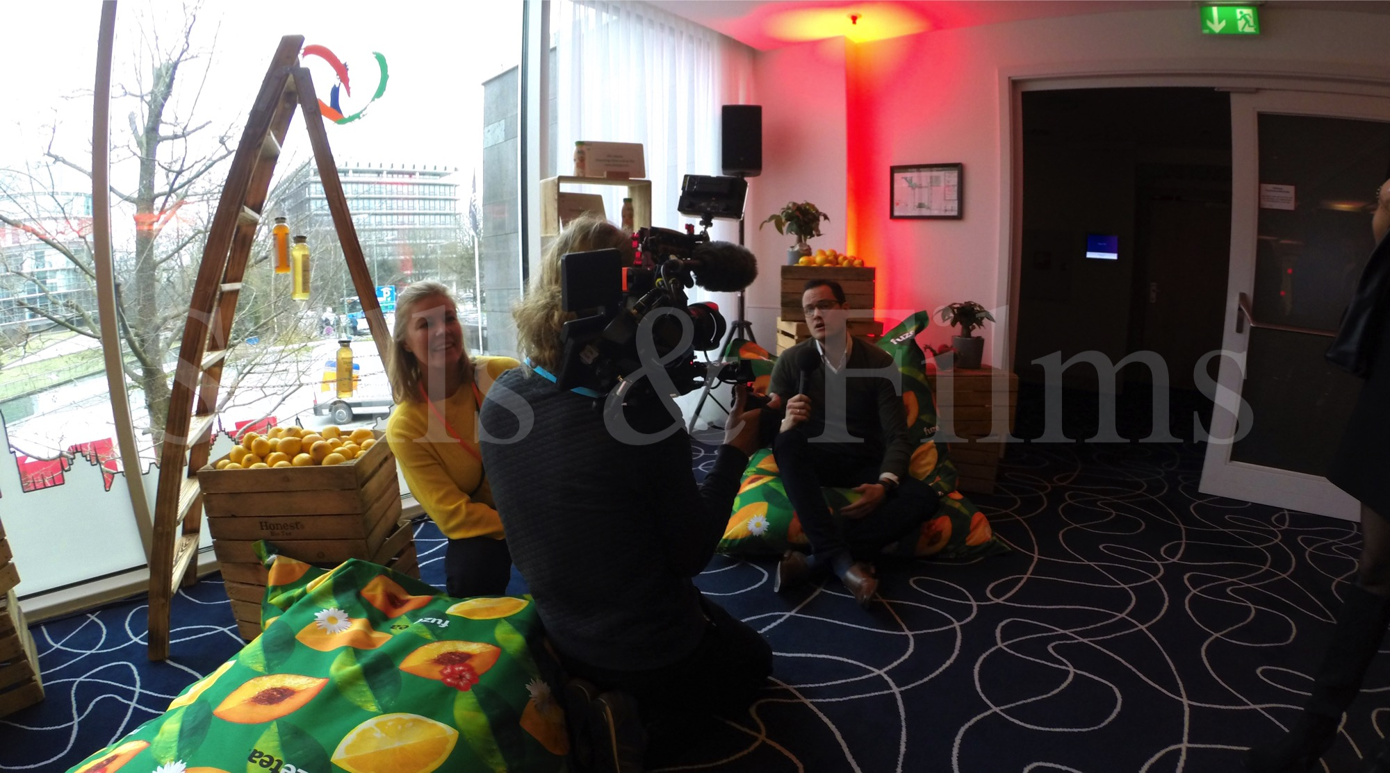 Interviewing participants at the  Coca Cola's All Hands Meeting 4 in Munich, Germany 7