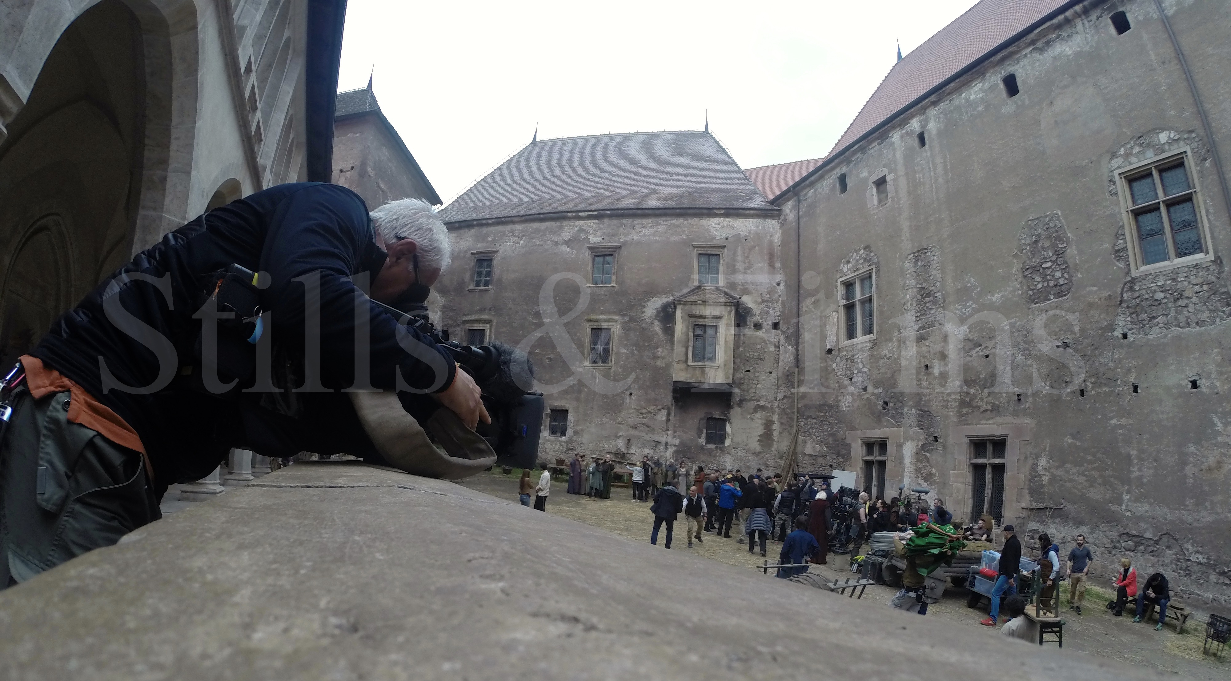 Our Bucharest camera crew filming behind the scenes