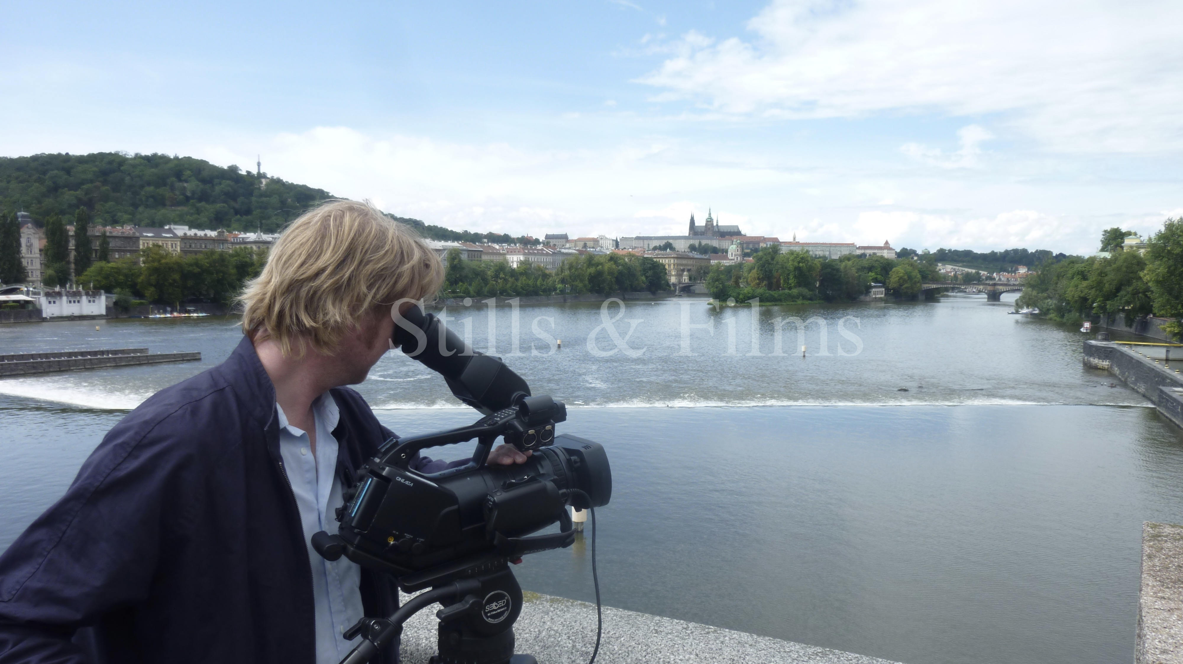 Video Crew Prague filming at the Vlatava River