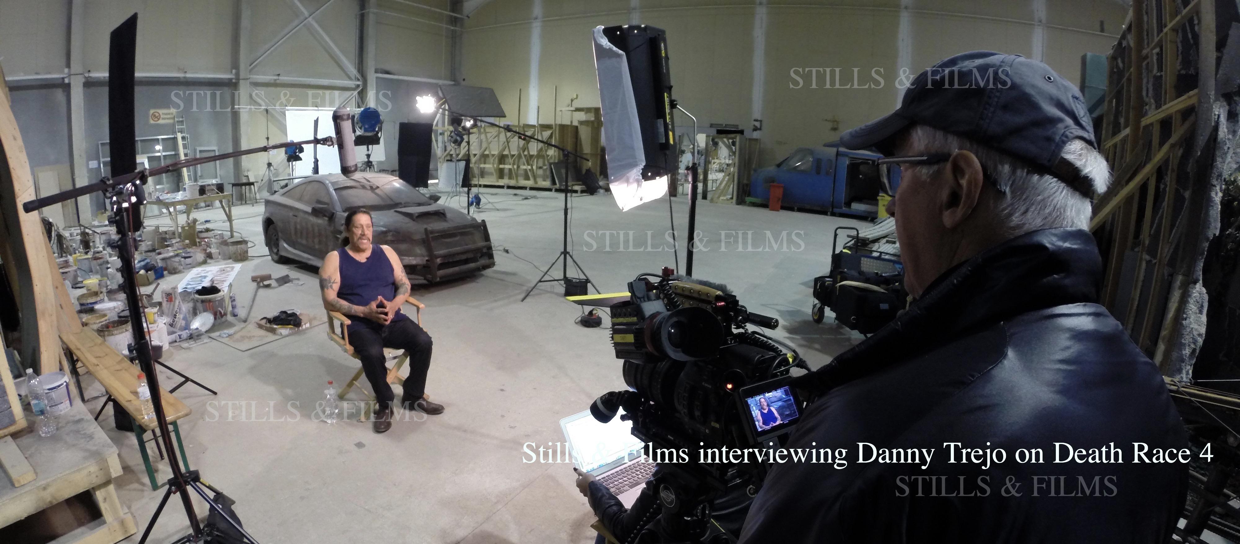 Interviewing Danny Trejo in Sofia