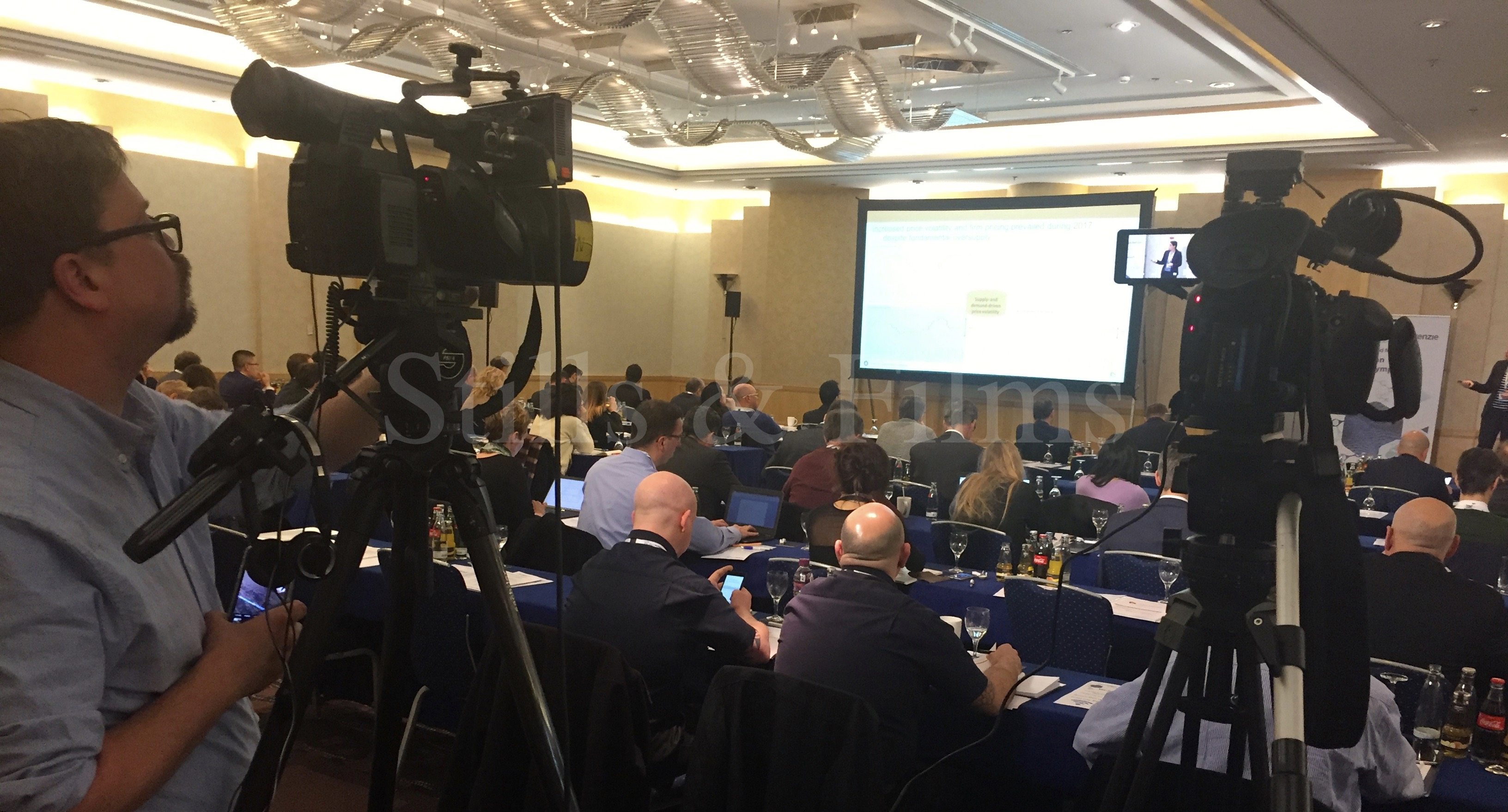 Stills & Films video crews covering a conference for a US client