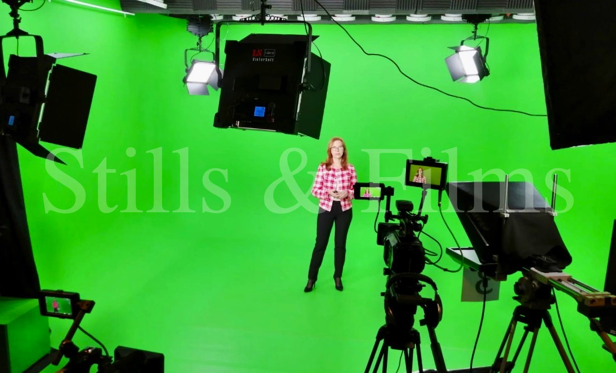 Moscow green screen filming